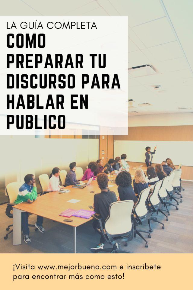 Cómo preparar tu discurso para hablar en público